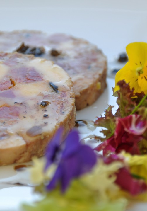 Galantine de volaille eu foie gras et truffe